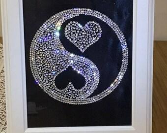 Swarovski Ying Yang Hearts