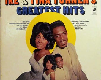 Ike and Tina Turner Greatest Hits Vintage Vinyl Record LP