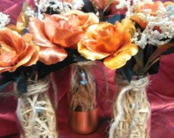 All 3 Gold Roses in Jars