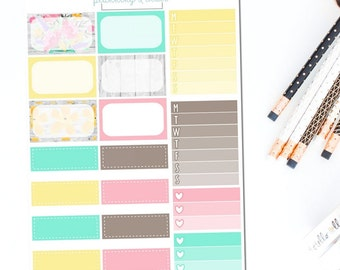 Just Breathe - Half Boxes | Planner Stickers