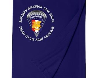 Southern European Task Force SETAF Embroidered Blanket-6302