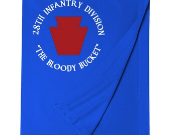 28th Infantry Division Embroidered Blanket-7411
