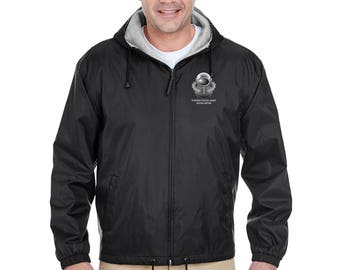 US Army SCUBA Embroidered Fleece-Lined Hooded Jacket-7782