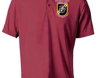 46th Special Forces Group Embroidered Moisture Wick Polo Shirt -3013