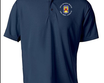 199th Light Infantry Brigade Embroidered Moisture Wick Polo Shirt -8551