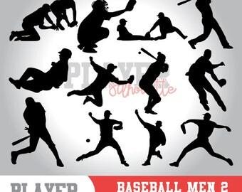 Baseball silhouette clipart, baseball player,softball clipart, athlete silhouette,baseball svg,baseball cut file,cameo or cricut,A-006
