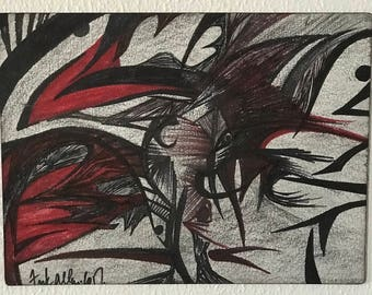 Abstract in Red and Black 1