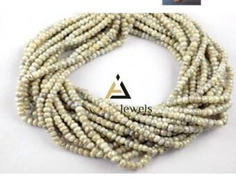 1 strand natural silverite beads, silverite gemstone, 3mm silverite beads, faceted silverite. rondelle silverite, silverite necklace
