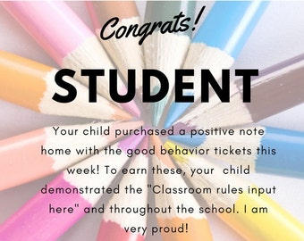 Good Behavior Note