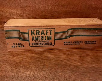 Wooden Kraft Cheese Box 5lb w/ lid