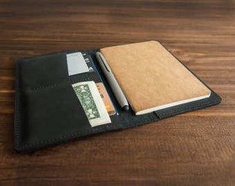 Leather field notes wallet Personalized field notes cover personalized leather journal cover notebook cover pocket journal cover moleskine.