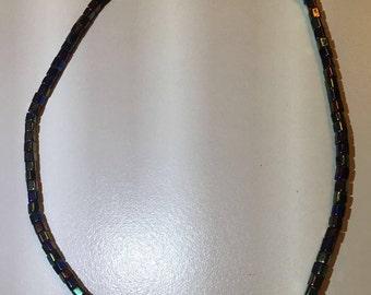 Black Opaque Necklace