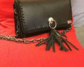 Handmade Leather Hand Bag, Valentines day gift for her, Gift Made in Greece, Little evening bag