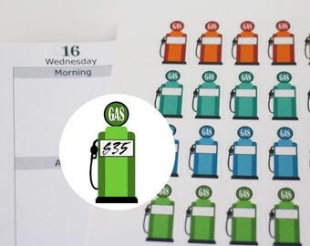 49 gas pump stickers, gas tracker,gas price tracker,planner stickers ------M126P