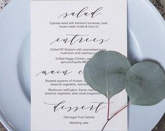 Wedding Menu 5 Printable Template