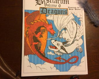 Colouring Bestiarum Volume 6 Dragons