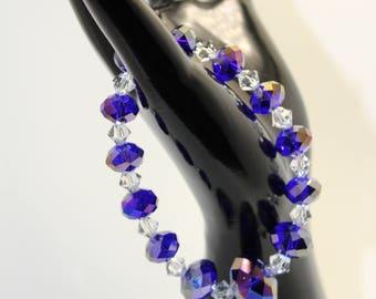 Glass violet crystal bracelet