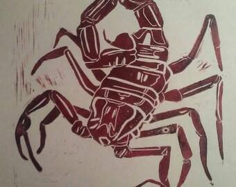 Scorpion Relief Print