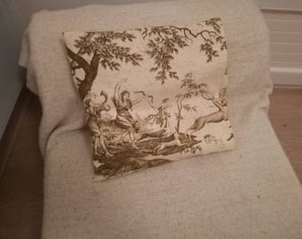 French toile de jouy cover + pillow