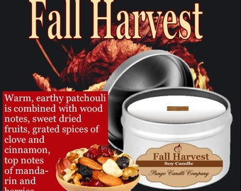 Fall Harvest Scented Soy Candle Tin (8 oz.)