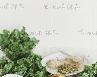 Kale Salad Ingredients Stock Photo/ Images for health, wellness & fitness Bloggers, Coaches and Entrepreneurs