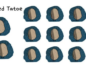 Depressed Tatoes Stickers