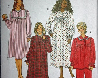 Nightgown and Pajamas Pattern - Butterick 4670