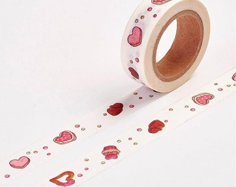 Heart/Valentines Washi Tape - 15mm x 10 Meters - #SW102