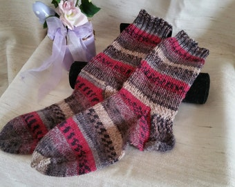 Cuddly socks hand Knitted size 38-39