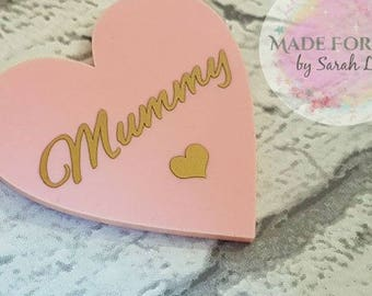 Baby Pink Heart Magnet, Personalised