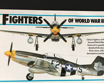 Vintage Book, Fighters of the World, Old Coffee Table Book, Published 1984