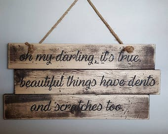Oh My Darling, It's True Wall Hanging