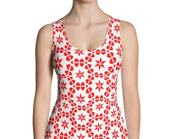 Printed Women's top-Sublimation Cut & Sew Tank Top