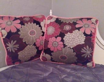 2 Pillows, Floral, Living Room, Bedroom, Decorative, Home Decor, Throw Pillows, Bed, Den