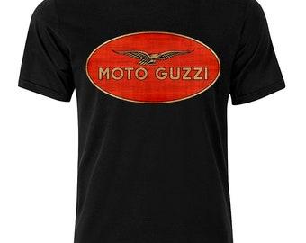 Moto Guzzi - Graphic Cotton T Shirt Short or Long Sleeve