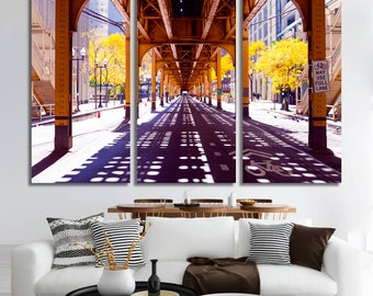 Chicago Street Wall Art for Living Room Design Chicago Wall Art Home Decor Ideas Large Canvas Art