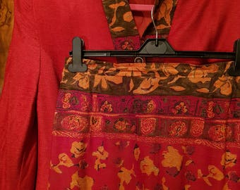 Schneberger blazer/skirt set vintage pieces.