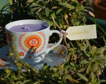 Lavender Scent Teacup Candle