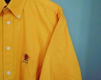 Shirt thick mustard mixed velvet touch
