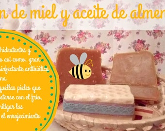 Honey soap and sweet almond oil