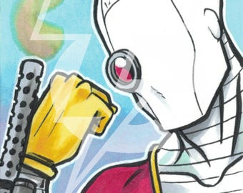 Deadshot Original Sketch Card