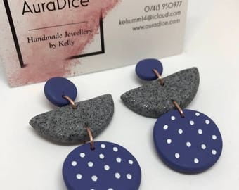 One set of polymer clay earrings