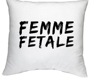 Femme Fatale decorative pillow