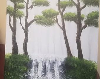 Le petit ruisseau dans la forêt