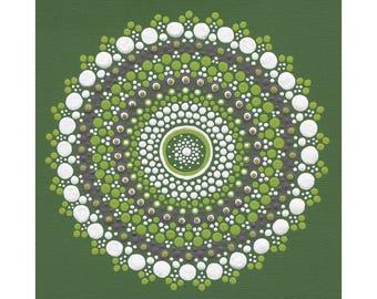 Olive Mandala Print