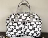 Custom Order for Crystal - Belle Baby Bag - Gray Elephants