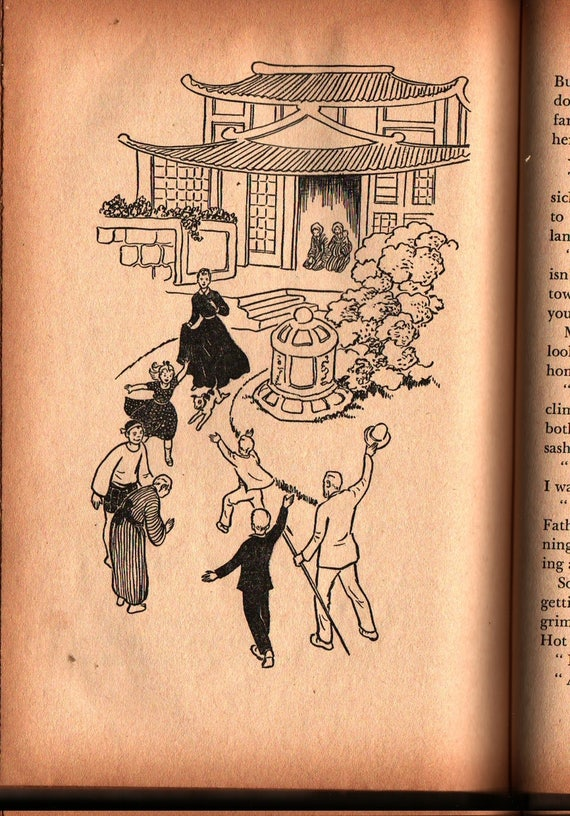 Gift From The Mikado - Elizabeth P. Fleming - Janet Smalley - 1958 - Vintage Kids Book