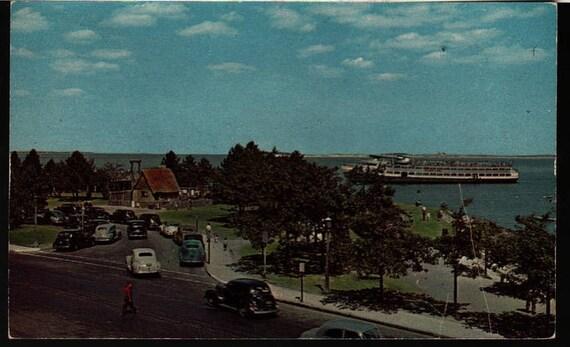 Pilgrim House and Plymouth Harbor - Plymouth, Massachusetts - Vintage Postcard
