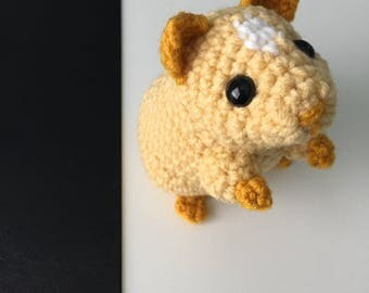 Hamster - Popcorn - Amigurumi Crocheted Hamster