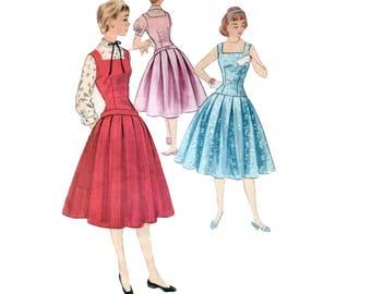50s Full Skirt Dress Pattern New Look pattern 28-24-31 Vintage Pattern New Look Dress pattern Jumper pattern McCalls 3299